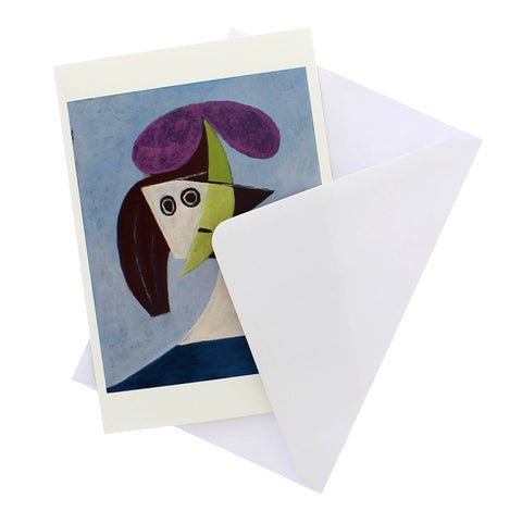 Femme au chapeau Greetings Card
