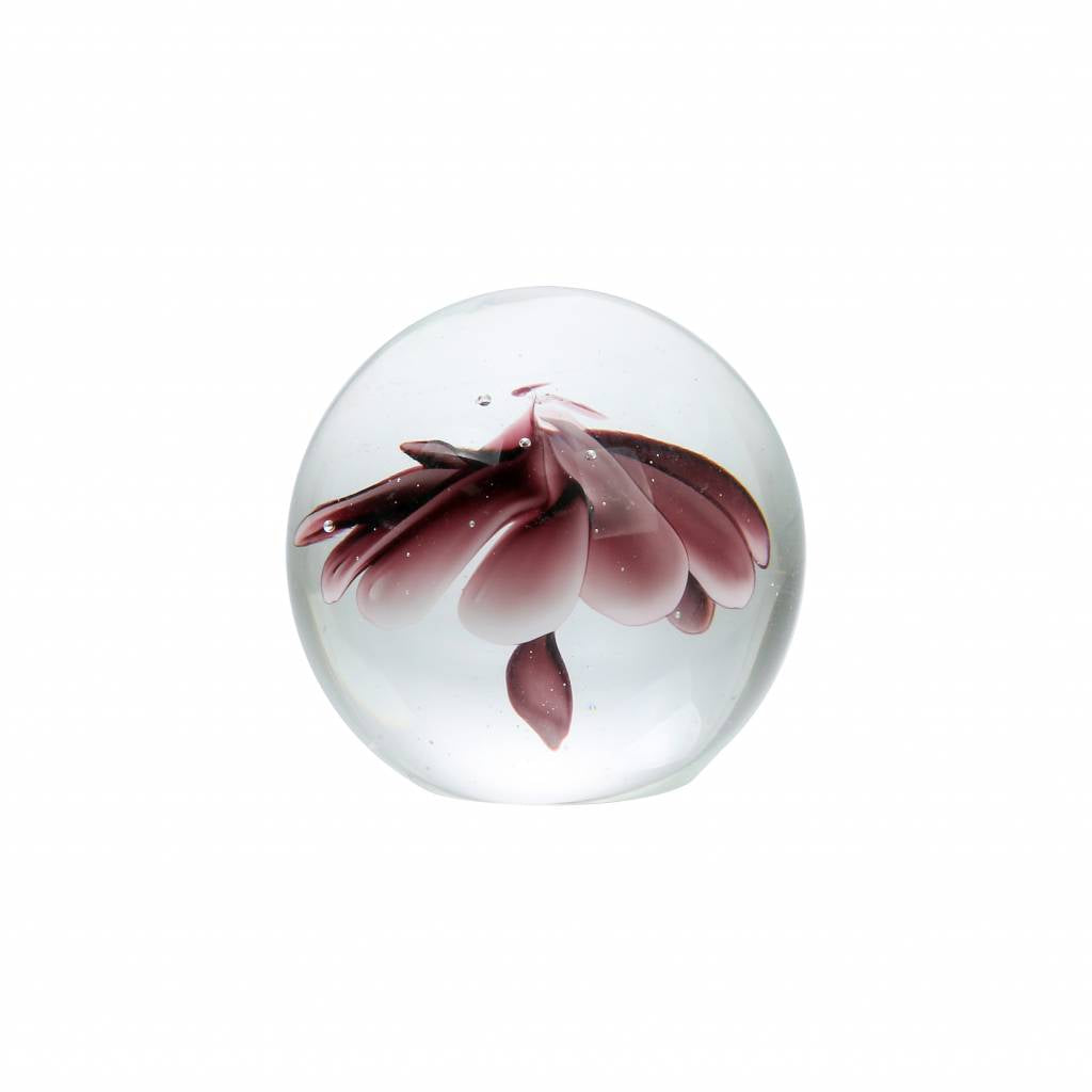 Purple Flower Glass Paperweight