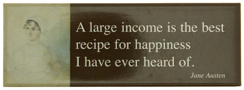 Jane Austen Quote Fridge Magnet