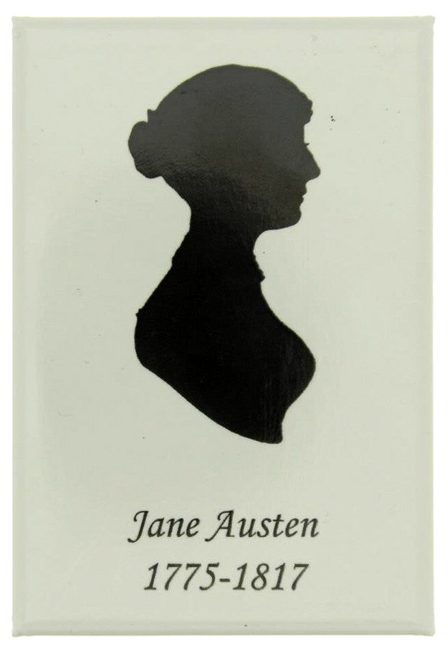 Jane Austen Silhoutte Fridge Magnet