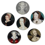 The Wives of Henry VIII Crystal Magnet Set