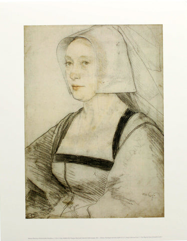 Woman Wearing a Netherlandish Headdress Mini-print