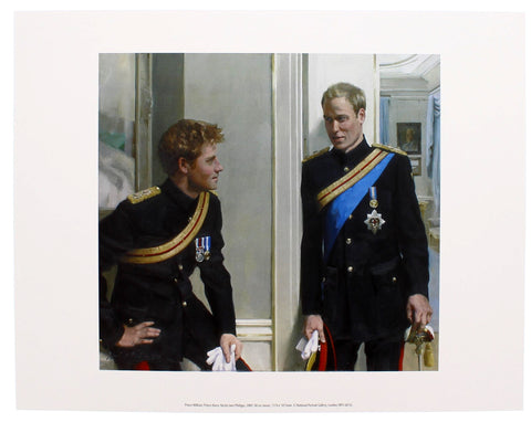 Prince William and Prince Harry by Nicola Jane Philipps Mini-print