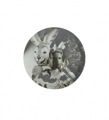 Beaton in his Fête Champêtre Rabbit Costume Pocket Mirror