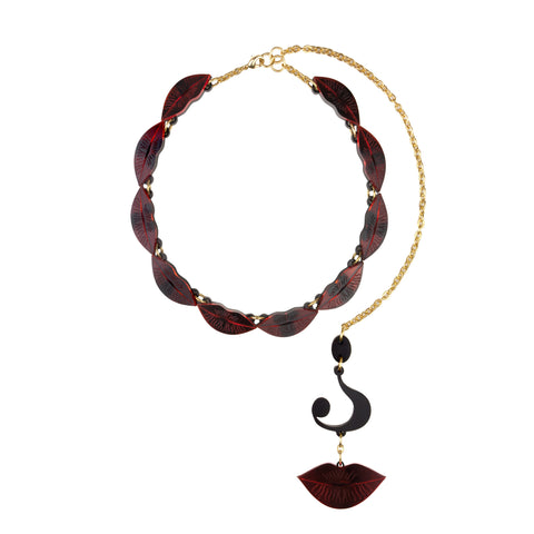 Vogue Lips Multi Necklace