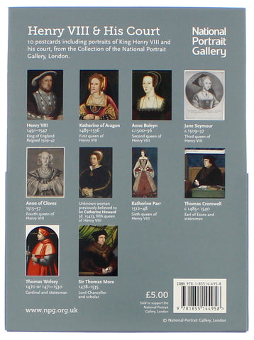 Henry VIII & His Court Postcard Pack