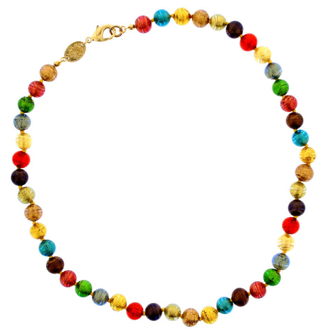Murano Multi Coloured Glass Necklace