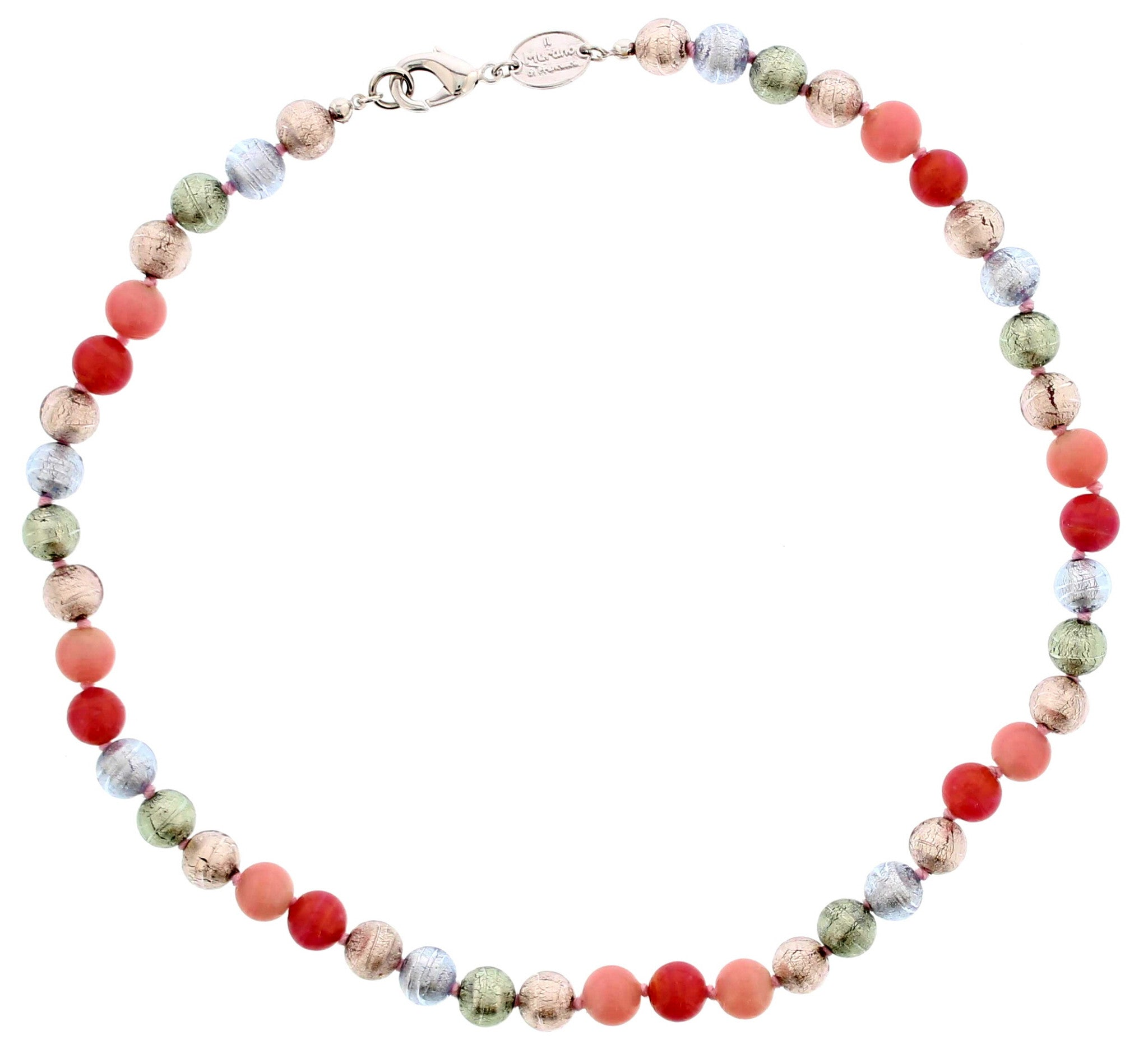 Murano Pastel Coloured Glass Necklace