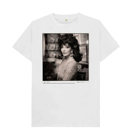 White Joan Collins unisex t-shirt