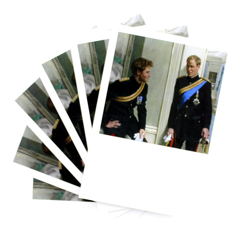 Prince William and Prince Harry Postcards