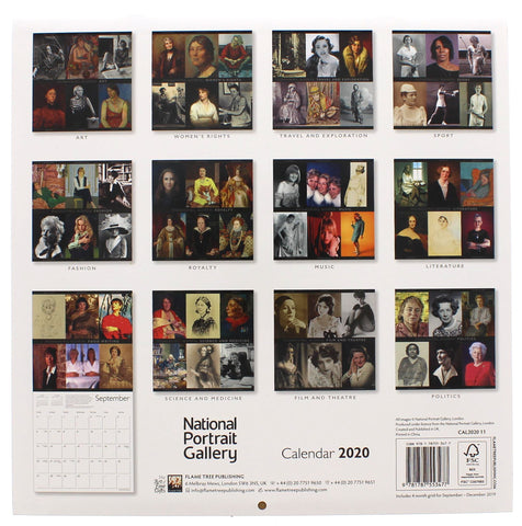 National Portrait Gallery Pioneering Women 2020 Calendar