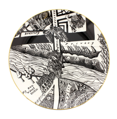 Grayson Perry 'A Map of Days' Plate 'Privacy'