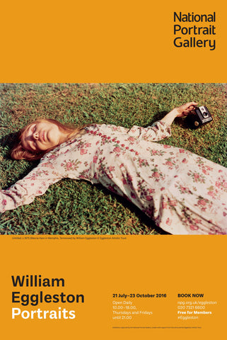 William Eggleston Portraits Exhibition Poster