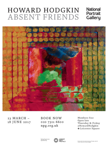 Howard Hodgkin Absent Friends Exhibition Poster (1)