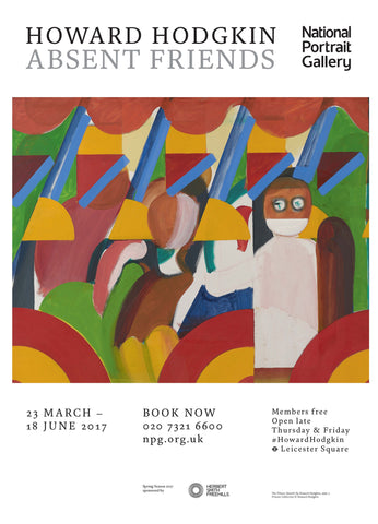 Howard Hodgkin Absent Friends 'The Tilsons' Exhibition Poster