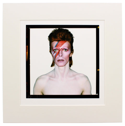Aladdin Sane, 1973 'Eyes Open' Brian Duffy Archive Mounted Print in Black Wood Frame