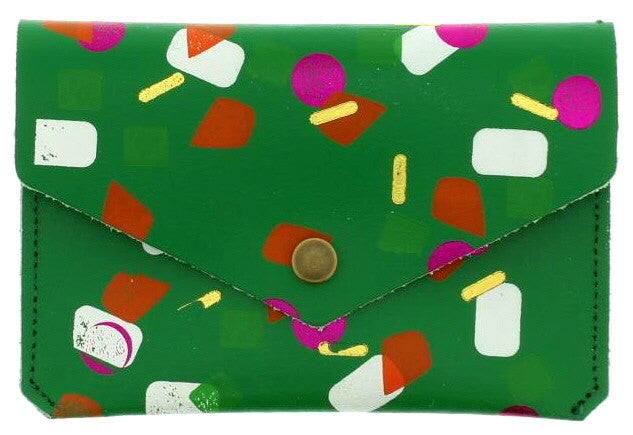 Green Tutti Frutti Popper Purse