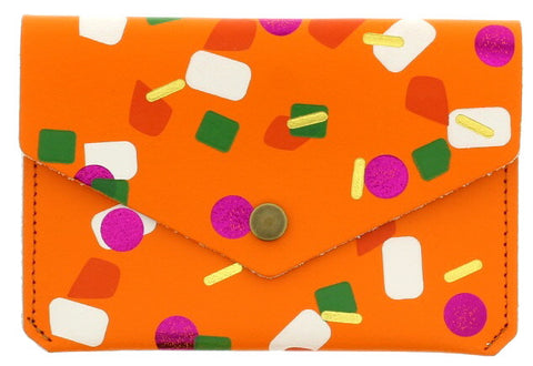 Orange Tutti Frutti Popper Purse