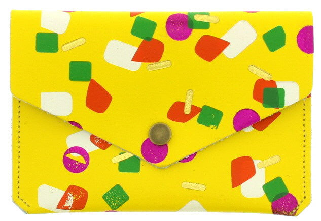 Yellow Tutti Frutti Popper Purse