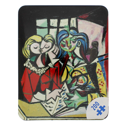 Two Girls Reading Pablo Picasso Jigsaw Puzzle