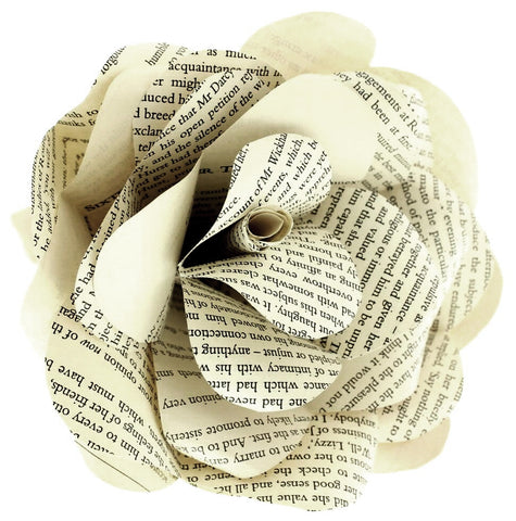 Jane Austen Literary Paper Rose