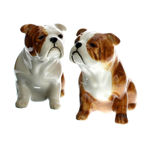 English Bulldog Salt and Pepper Shakers