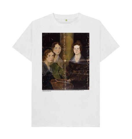 White The Bronte Sisters Unisex T-Shirt