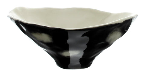 Handmade Black and White Porcelain Cecil Bowl