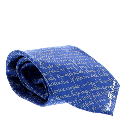 Shakespeare's Manuscript Silk Tie