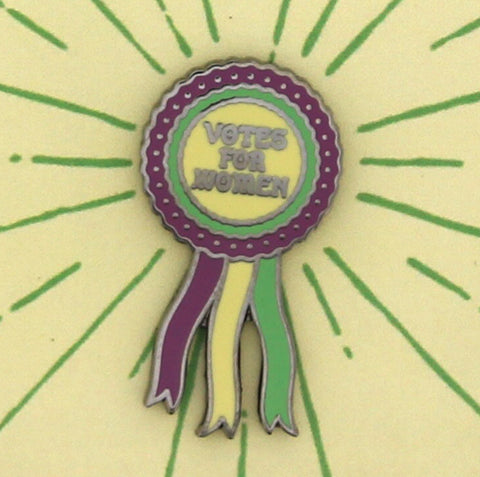 Votes for Women Rosette Enamel Lapel Pin