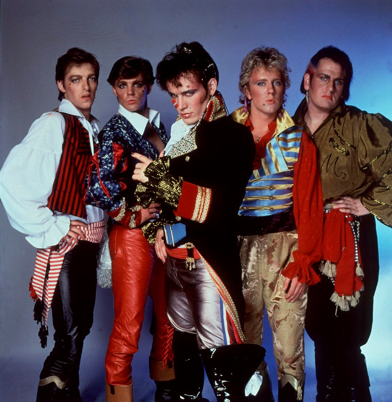 Adam and the Ants (Merrick (Chris Hughes); Terry Lee Miall; Adam Ant; Gary Tibbs; Marco Pirroni) NPG x125374 Portrait Print