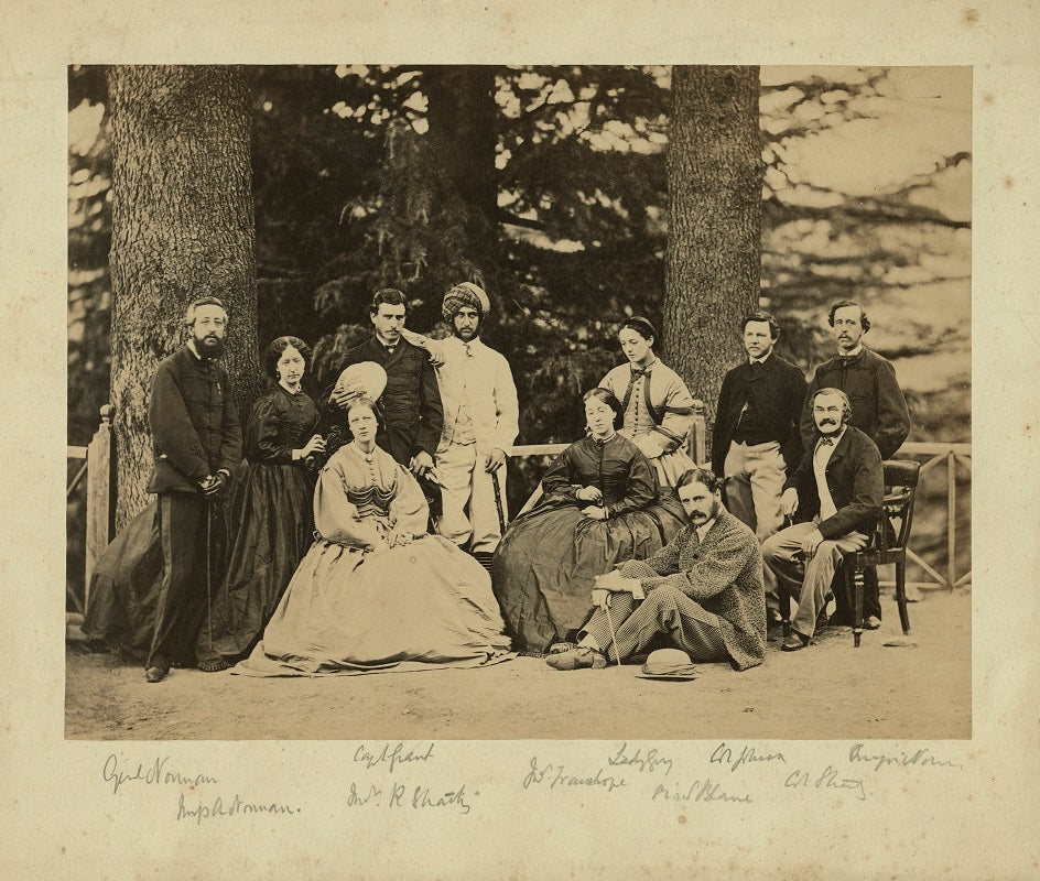 Group of officials and relatives, Simla NPG x129646 Portrait Print