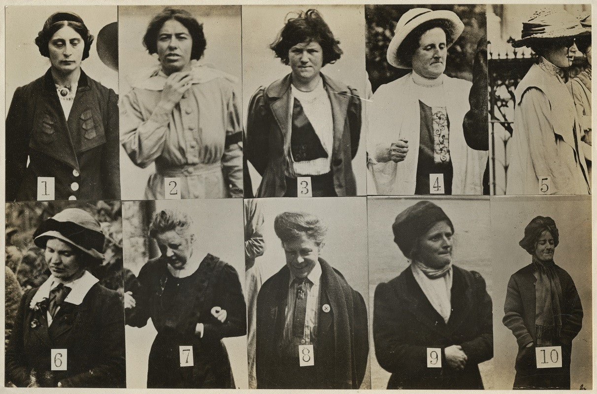 'Surveillance Photograph of Militant Suffragettes' NPG x132846 Portrait Print