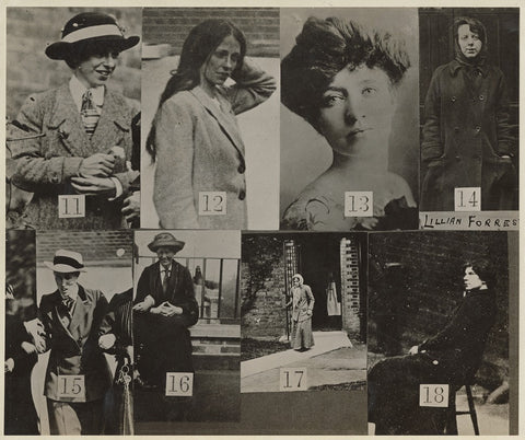 'Surveillance Photograph of Militant Suffragettes' NPG x132847 Portrait Print
