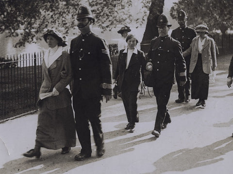 Suffragettes 'After the fight' (Unidentified Women and Policemen) NPG x137213 Portrait Print