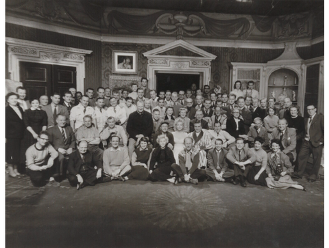 The cast and crew of 'The Prince and The Showgirl' NPG x137344 Portrait Print