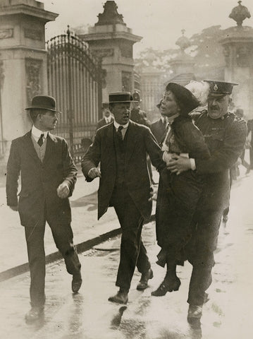 Emmeline Pankhurst's arrest at Buckingham Palace NPG x137688 Portrait Print