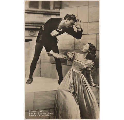 Laurence Olivier as Hamlet and Vivien Leigh as Ophelia in 'Hamlet' NPG x137983 Portrait Print