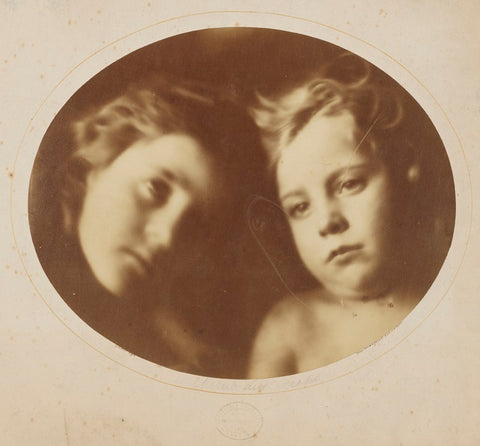 'Cherub and Seraph' (William Frederick Gould; Elizabeth Keown) NPG x18006 Portrait Print