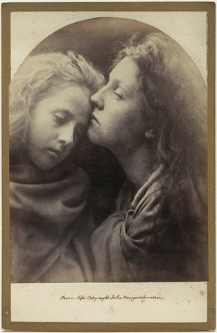'The Kiss of Peace' (Elizabeth ('Topsy') Keown; Mary Ann Hillier) NPG x18043 Portrait Print