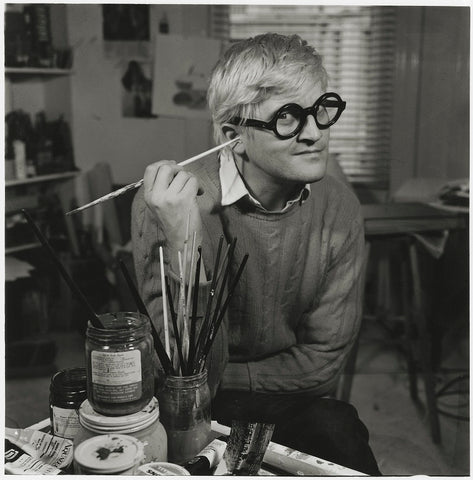 David Hockney NPG x195545 Portrait Print