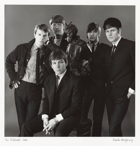 The Animals (John Steel; Chas Chandler; Eric Victor Burdon; Dave Rowberry; Hilton Stewart Paterson Valentine) NPG x47355 Portrait Print