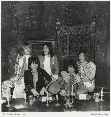 The Rolling Stones (Brian Jones; Keith Richards; Mick Jagger; Bill Wyman; Charlie Watts) Mounted Print
