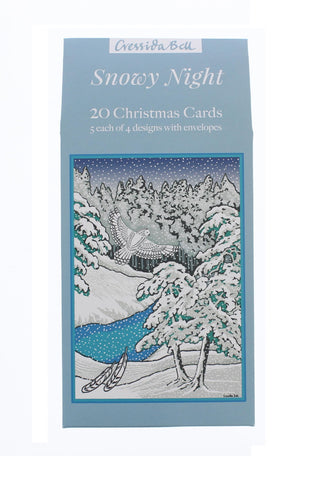 Snowy Night Christmas Card 20 Pack