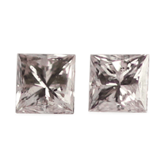 0.22 PCE Square Argyle Pink Diamond Pair