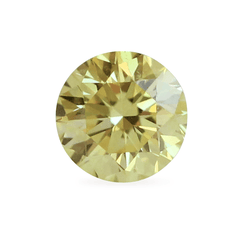 0.25 VIvid Yellow Round Brilliant Lab-Grown Diamond