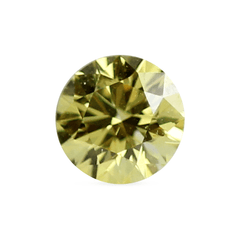 0.27 ct Intense Yellow Round Brilliant Diamond