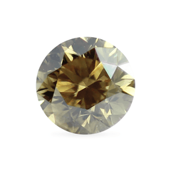 0.36 Moss Green Round Lab Diamond