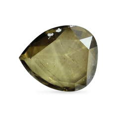 0.34 Bay Leaf Green Pear Rose-Cut Lab Diamond