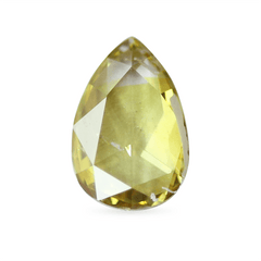 0.34 Yellow Green Pear Rose-Cut Lab Diamond